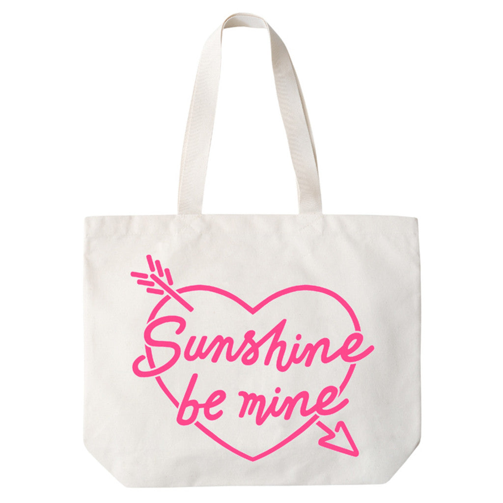 sunshine be mine big canvas bag hot pink accessories