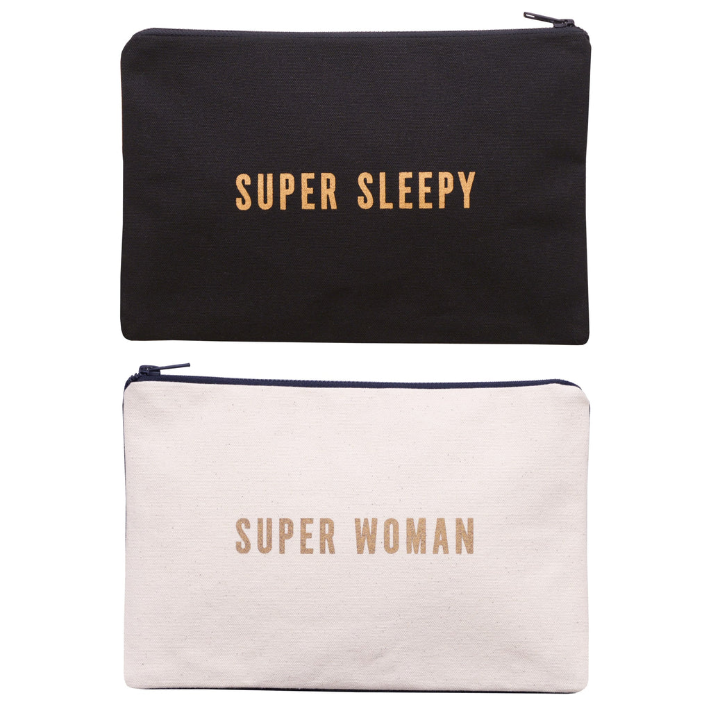 Super Woman / Super Sleepy Large Pouch