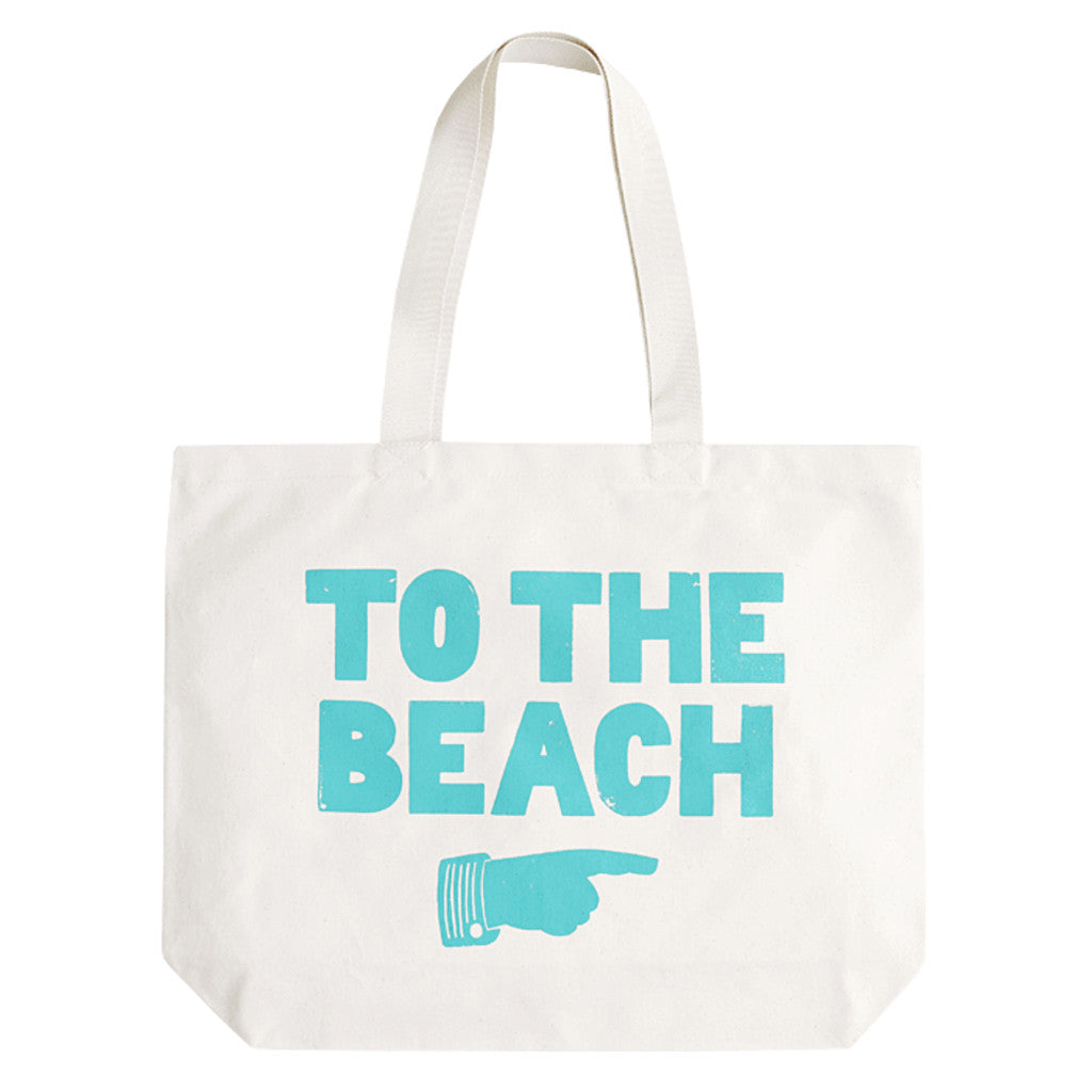 to the beach big canvas bag turquoise accessories