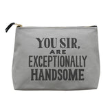 you sir wash bag canvas grey accessories