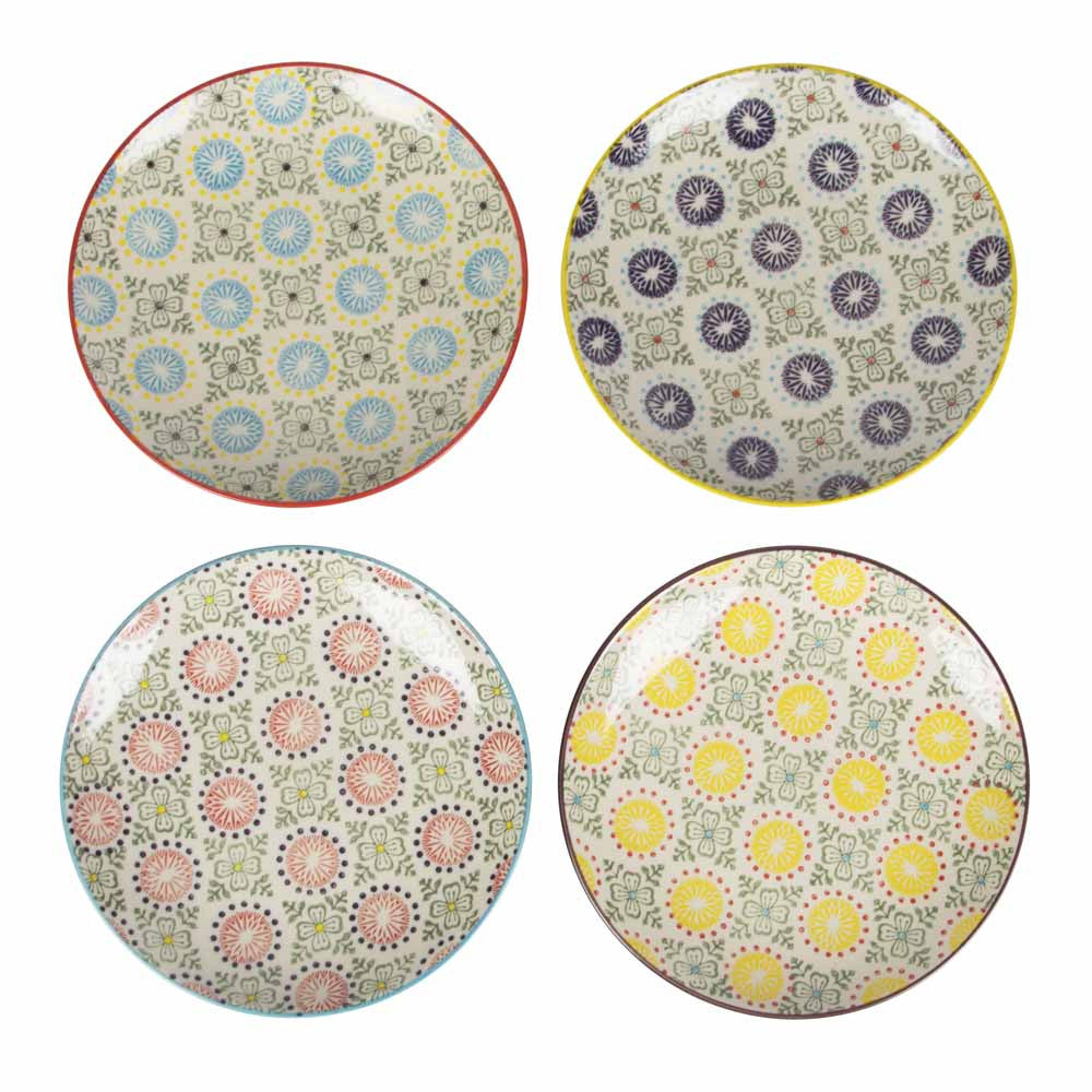 zahara plate blue/purple/red/yellow