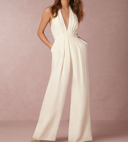 Amelia Halter Backless Jumpsuit