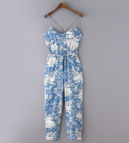 Hailey Floral Print Jumpsuit - OverStacked