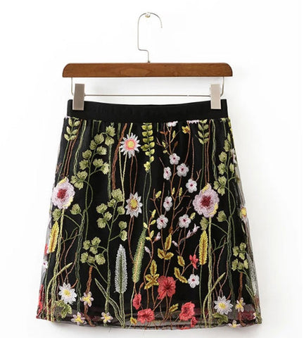 Emma Embroidered Skirt