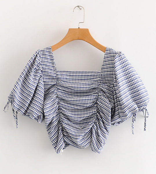 Puff Sleeve Top Korean Crop Top Outfit Style Clothing