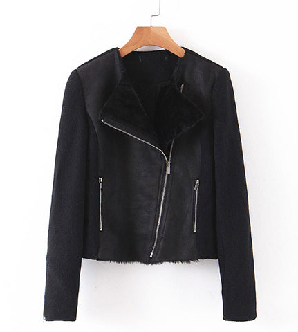 Trinity Suede Leather Biker Jacket
