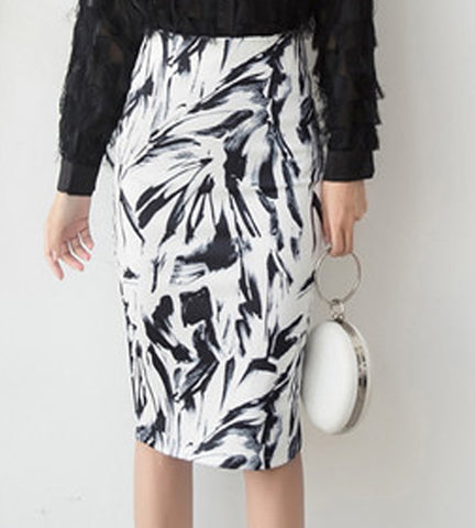 Harper Print Pencil Skirt