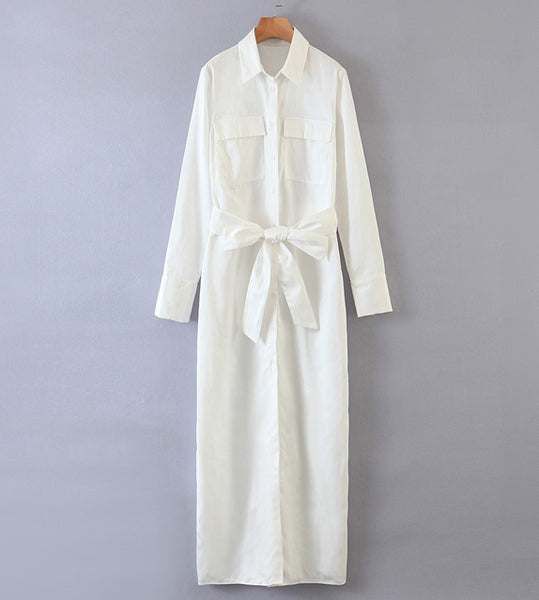 white dress cargo basic button down polo shirt dress long sleeves long dress maxi zara outfit like women's clothing