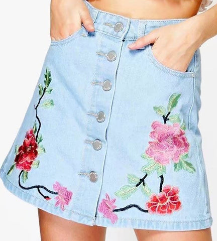 Anna Embroidered Skirt