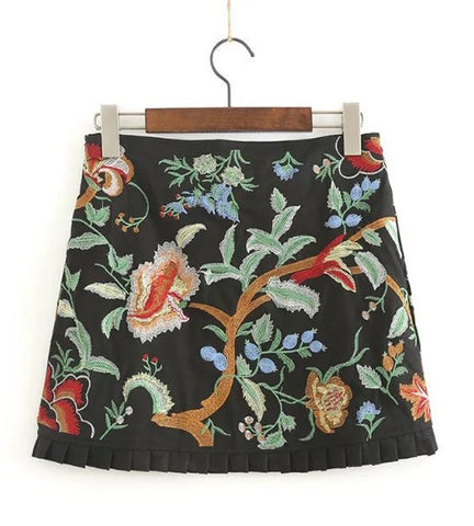Amber Embroidered Skirt