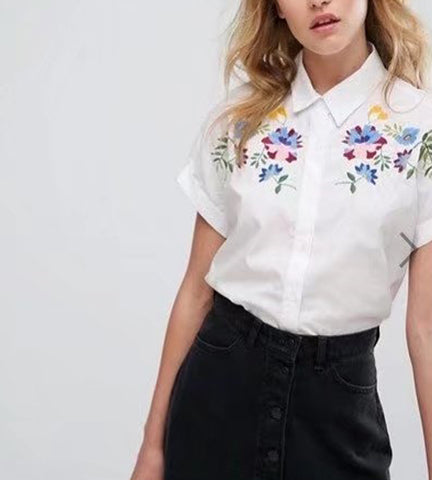 Charlie Embroidered Polo Top