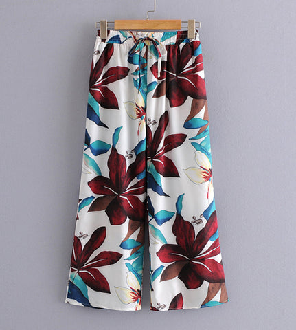 Theo Floral Print Trousers
