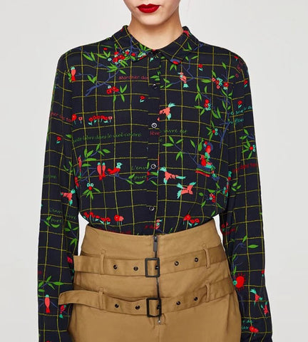 Zara tops, Polo Top, Button down top, Plaid, Print, Floral