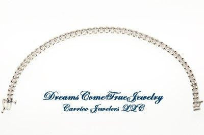 Bracelet Tennis 1.50 CTW 52 Diamond 14K White Gold