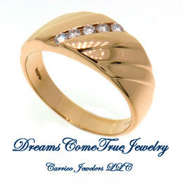 0.40 CTW 5 Diamond 14K Gold Ladies Fashion  ring