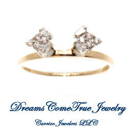 Guard Ring  0.30 CTW Diamond 14K Yellow Gold