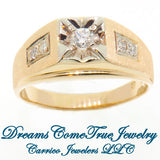 14K Yellow Gold 0.40 ctw Men's Diamond Ring