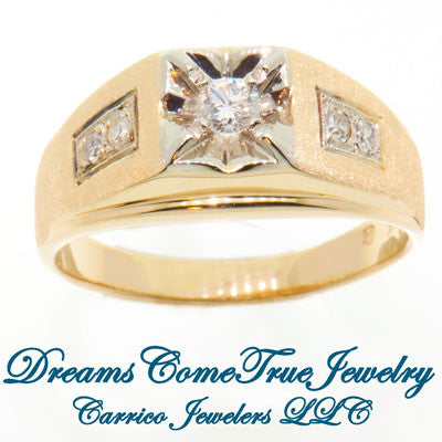 0.40 CTW Men's 14K Gold Diamond Ring
