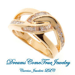 14K Yellow Gold 1.00 ctw Ladies Diamond Ring