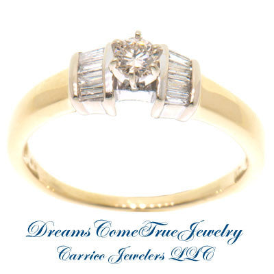 14K Gold 0.37 ctw Diamond Engagement Ring