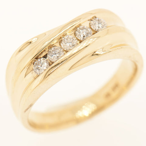 14K Yellow Gold 5 Diamond 0.55 ctw Ring