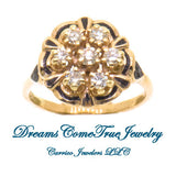 0.63 CTW Ladies 7 Diamond Cluster 10K Gold Ring