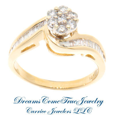 14K Yellow Gold Ladies 0.57 ctw Diamond Ring