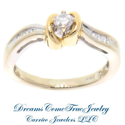 0.15 ctw Ladies 14K Two Tone Diamond Cocktail Ring