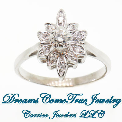 0.30 CTW Ladies 14K Diamond Cluster Cocktail Ring