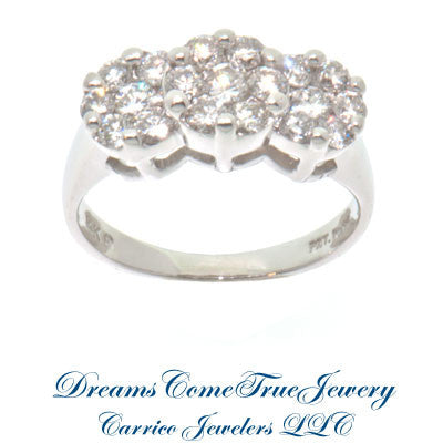 1.13 ctw Ladies 14K White Gold Diamond Ring