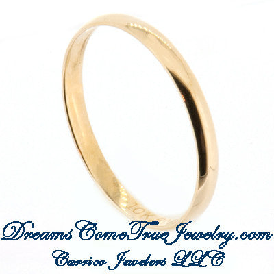 Wedding Band 1.0 gram 14K Yellow Gold