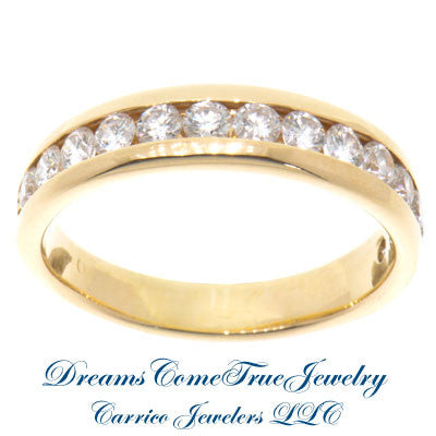 1.26 CTW 14 Diamond 14K Yellow Gold Band