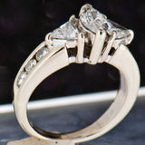 14K White Gold Ladies 1.20 CTW Marquise and Tringular Cut Diamond Ring