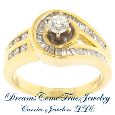 1.10 ctw Ladies Custom 44 Diamond 14K Gold Ring