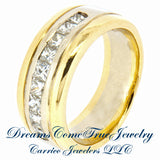 0.60 CTW Ladies 9 Diamond 14K Two Tone Gold Band