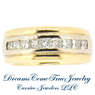 14K Gold Ladies 0.60 CTW 9 Diamond  Band
