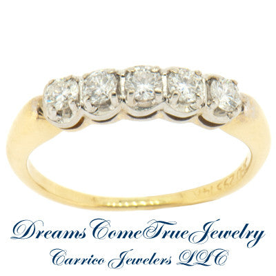 0.50 CTW Ladies 14K Yellow Gold Diamond Guard Ring