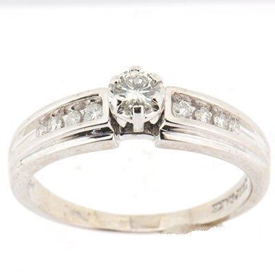 14K White Gold Ladies 0.46 ctw Diamond Engagement Ring