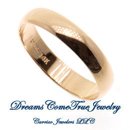 Wedding Band Width 4.mm 14K Yellow Gold