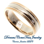 Wedding Band 6 gram 14K Two Tone Gold
