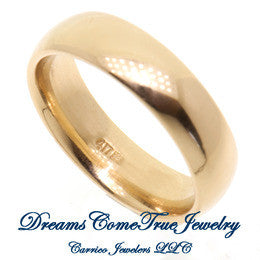 Wedding Band Width 6.mm 10K Yellow Gold