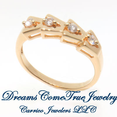 14K Gold Ladies  0.24 CTW 4 Diamond  Ring