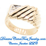 0.05 CTW Men's Diamond 10K Gold Ring