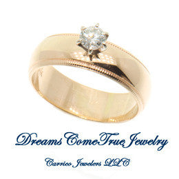 0.24 Carat Diamond Engagement Band 14K Gold