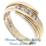 14K Two Tone Gold 0.55 CTW 5 Diamond  Band