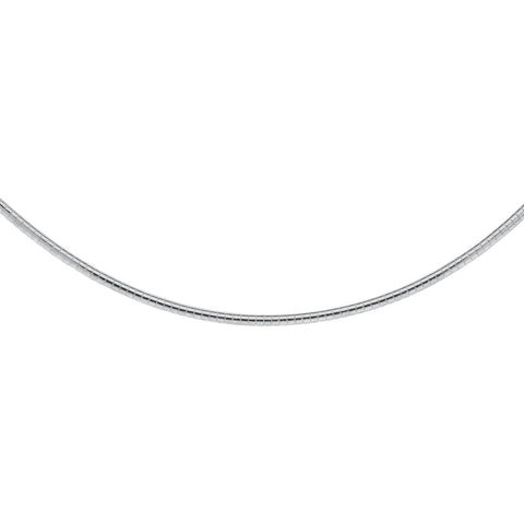 Sterling Silver Domed Omega Chain 3mm Width