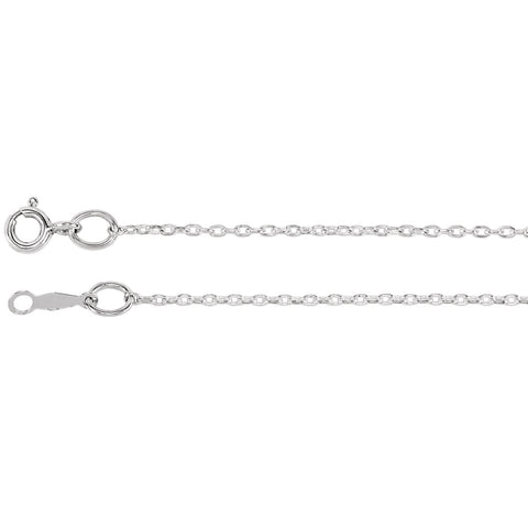 Sterling Silver Cable Chain 1.0 mm Width