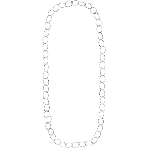 Solid Sterling Silver 13.00 MM Endless Chain 36 Inchs Long.