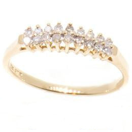 10K Gold Ladies Diamond Anniversary Band
