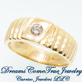 0.23 Carat Men's Diamond Ring 10K Yellow Gold